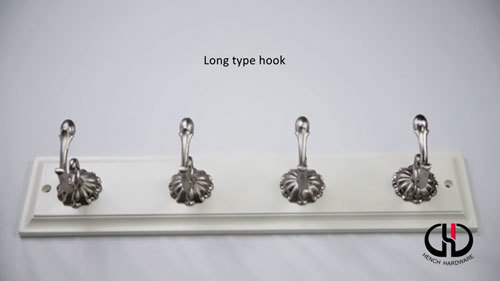 Mdern design good quality zinc alloy material long hooks