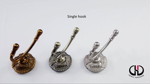 Perfect design zinc alloy material single hooks