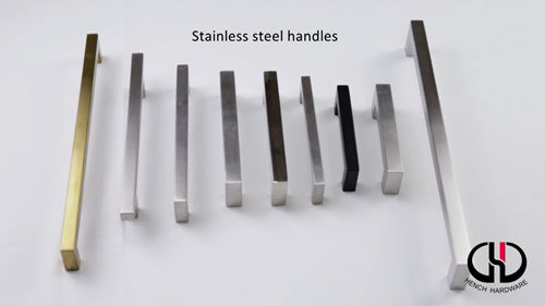 Mdern design stainless steel material kitchen cabinet  handles