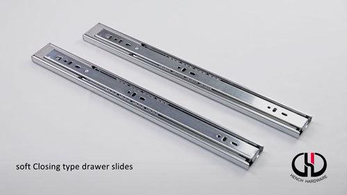 Good quality soft closing type drawer slides