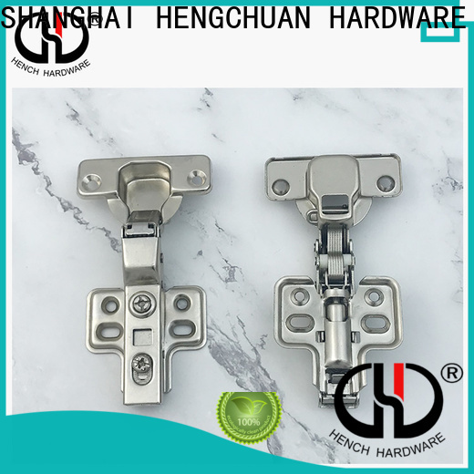 Hench Hardware soft closing brass cabinet hinges series for cabinet door closed