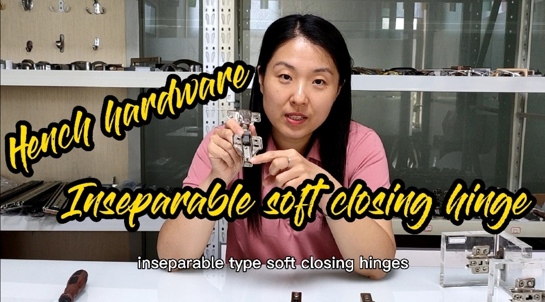 Inseparable soft closing hinge