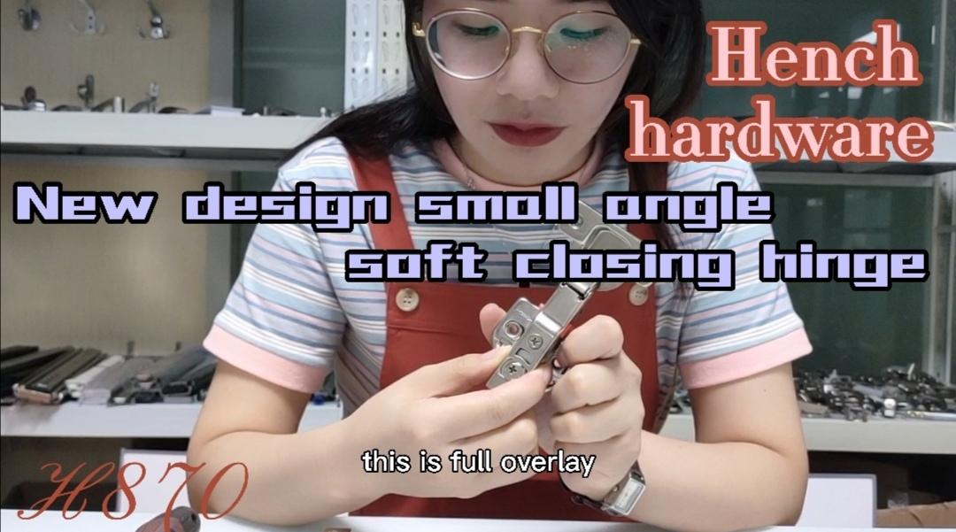 New design small angle soft closing hinge H870