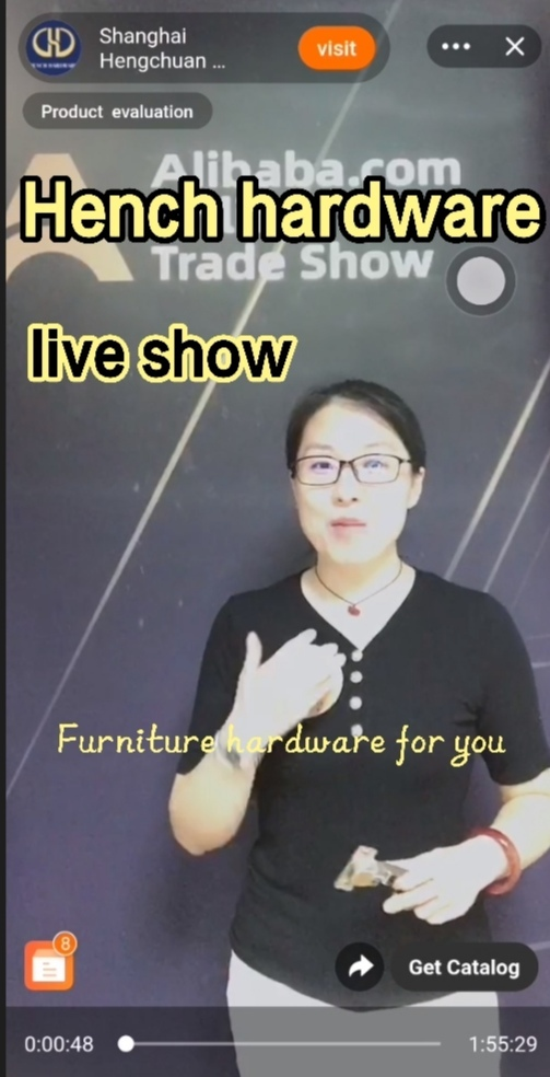 Hench hardware online live show teach you how to introduce hardware fittings to your customers