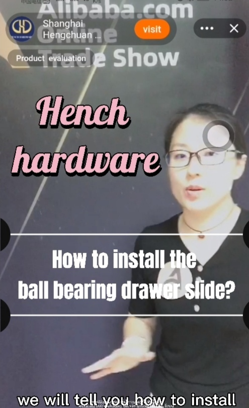 How to install the ball bearing drawer slide