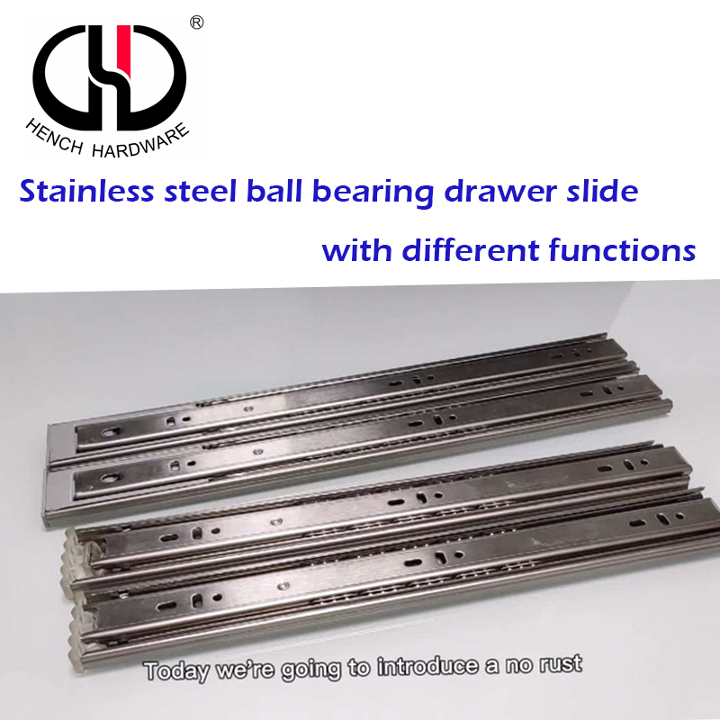 HENCH HARDWARE SUPERIOR QUALITY STAINLESS STEEL BALL BEARING DRAWER SLIDE